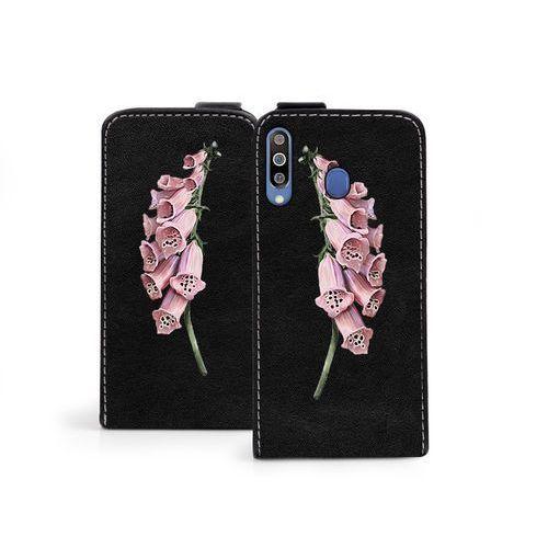 Samsung galaxy m30 - etui na telefon flip fantastic - czerwone kwiaty marki Etuo flip fantastic