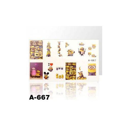 Naklejki wodne do paznokci - arkusz 9 x 5,5cm - a-667 marki Vanity