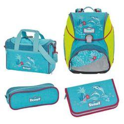 alpha plecak z akcesoriami szkolnymi, 4-częściowy - happy summer marki Scout