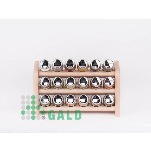 półka z przyprawami 18-el jasne drewno połysk 5901832920595 marki Gald