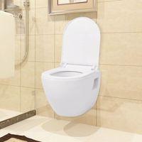 Vidaxl toaleta wisząca ceramiczna, biała