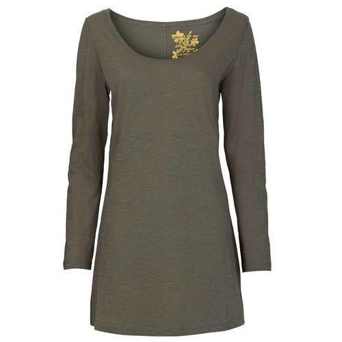 Shirt z długim rękawem oliwkowy marki Bonprix
