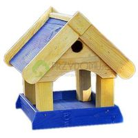 Karmnik dla ptaków budka lęgowa KL30 niebieski