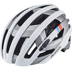 Alpina Campiglio Kask rowerowy biały/srebrny 55-59cm 2018 Kaski rowerowe