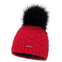 Standardowa czapka damska kostka PaMaMi - Czerwony - Czerwony