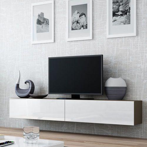 VIGO RTV nowoczesna szafka na wysoki połysk - latte   biały