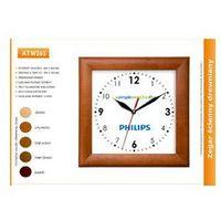 Zegar reklamowy drewniany kwadrat /265mm, kolor Zegar