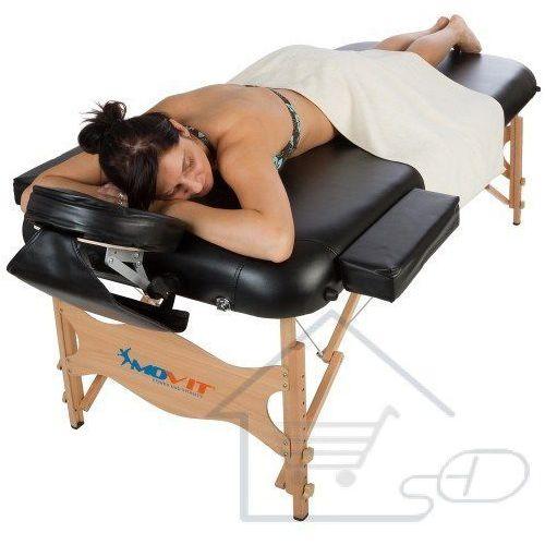Łóżko do masażu MOVIT czarne  stół do masażu