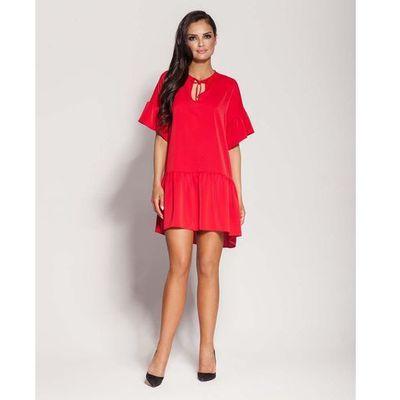 68f94e8840 Dursi Czerwona dziewczęca sukienka letnia z falbankami MOLLY