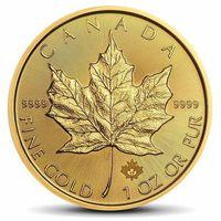 Moneta Kanadyjski Liść Klonowy 1 uncja złota