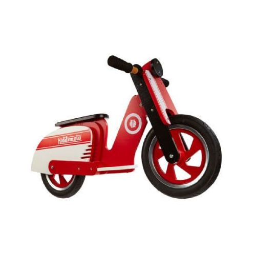 Kiddimoto ® rower biegowy scooter retro - red stripe (5060262720585)