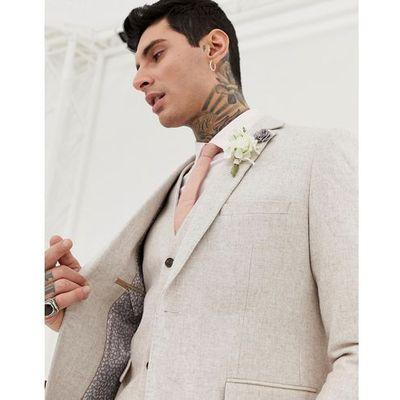 2235cc9cc8b8f wedding wool blend slim fit summer tweed suit jacket - cream, Harry brown  ASOS