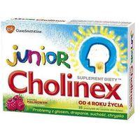 Pastylki JUNIOR CHOLINEX x 8 pastylek do ssania smak malinowy