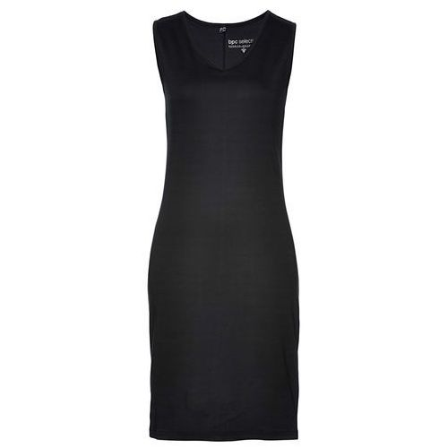 Sukienka shirtowa z nadrukiem czarny, Bonprix, 36-42