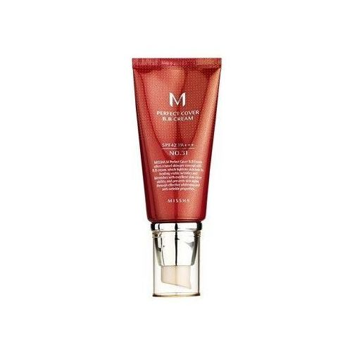 Missha krem bb no. 31 m perfect cover z wysoką ochroną uv spf42/pa+++ 50 ml