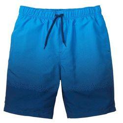 Bermudy plażowe w cieniowanym kolorze niebiesko-ciemnoniebieski z nadrukiem, Bonprix, S-XXXXL