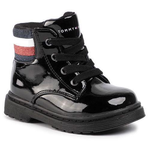 Trzewiki - lace-up bootie t1a5-30441-0710 black 999 marki Tommy hilfiger