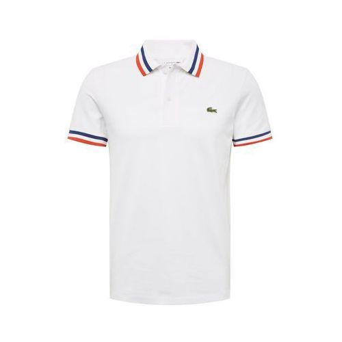 LACOSTE Koszulka 'CHEMISE COL BORD-COTES MA' biały, kolor biały