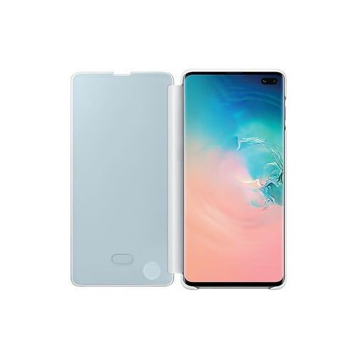 Samsung Galaxy S10 Plus Clear View Cover - White, kolor biały