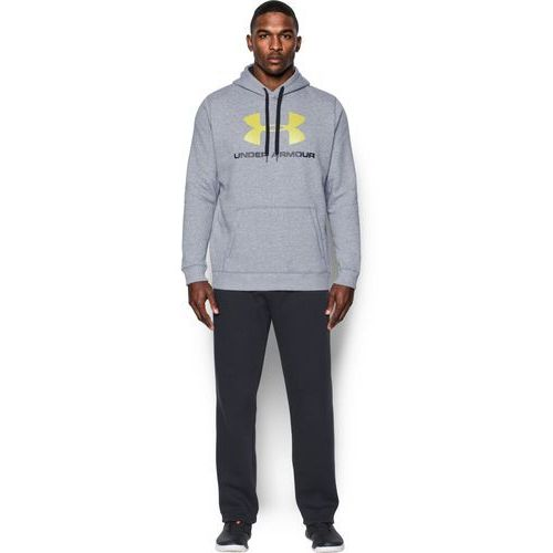 Under Armour Bluza z kapturem RIVAL FITTED GRAPHIC HOODIE Szara - Szary