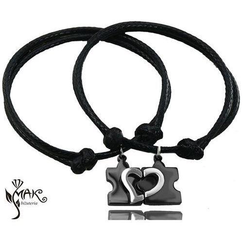 Br679 małe puzzle bransoletki dla par grawerunek marki Mak-biżuteria