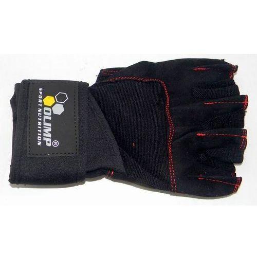 Rękawice treningowe raptor black with red stitches - czarne Olimp sport nutrition