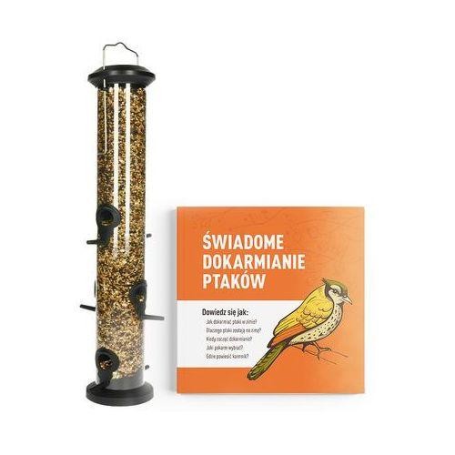 Odstraszanie Bardzo duża tuba na ziarno dla ptaków (1l). karmnik dla ptaków tuba 48cm.