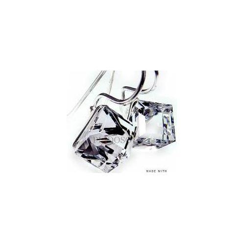 Swarovski kolczyki crystal cube srebro marki Arande