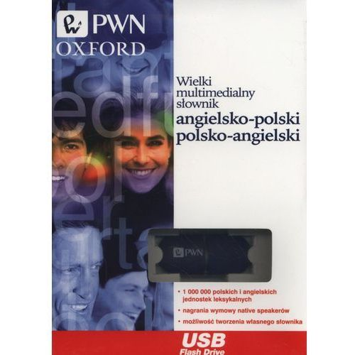 Wielki multimedialny słownik angielsko-polski, polsko-angielski Pendrive, oprawa kartonowa