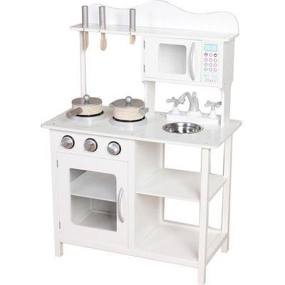 Kuchnie Zabawki Ecotoys Kuchnia Drewniana Z Wyposazeniem Dla Dzieci