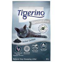 Tigerino Special Care żwirek dla kota - Active Carbon - 12 l  Darmowa Dostawa od 89 zł i Super Promocje od zooplus!