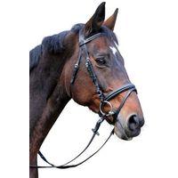 Kerbl Ogłowie wędzidłowe Classic, skóra, czarne, rozmiar Cob, 326138 (4018653938331)