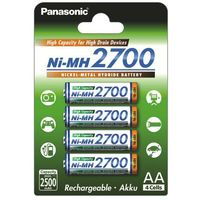4 x akumulatorki Panasonic R6 AA Ni-MH 2700mAh (blister), PS34