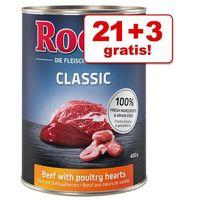 21 + 3 gratis! Rocco Classic, 24 x 400 g - Wołowina z reniferem| Wygraj iPhona XS - tylko w tym tygodniu | Dostawa GRATIS od 89 zł