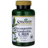 Tabletki Swanson Glukozamina Chondroityna MSM 250mg/200mg/150mg 120 tabl.