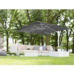 Parasol ogrodowy 250 x 250 x 235 cm antracytowy/biały MONZA (4260602371014)