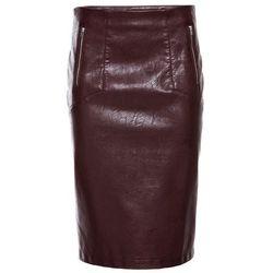 Spódniczka ze sztucznej skóry czerwono-brązowy marki Bonprix