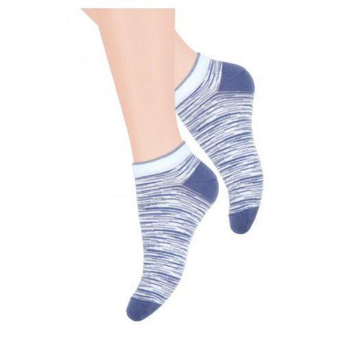 b5c9890541864a Stopki skarpetki błękit/jeans marki Steven - emodi.pl moda i styl
