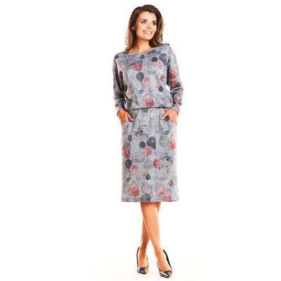 e2850ad13d suknie sukienki krotka sukienka na co dzien z kolorowym wzorem ...