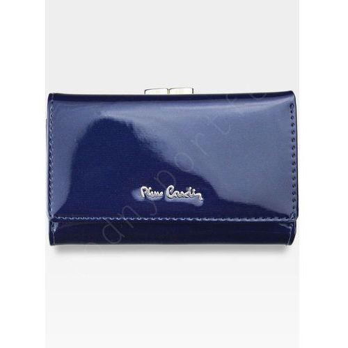d6ce5a4999956 Pierre cardin Portfel damski skórzany niebieski lakierowany 05 line 108 -  niebieski - foto Pierre cardin