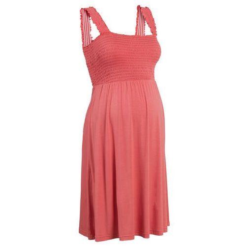 Sukienka ciążowa z dżerseju bonprix koralowy