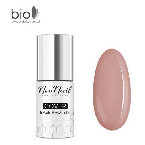 NOWOŚĆ! Lakier hybrydowy Cover Base Protein Cream Beige NeoNail – 7,2 ml, 5903274049261