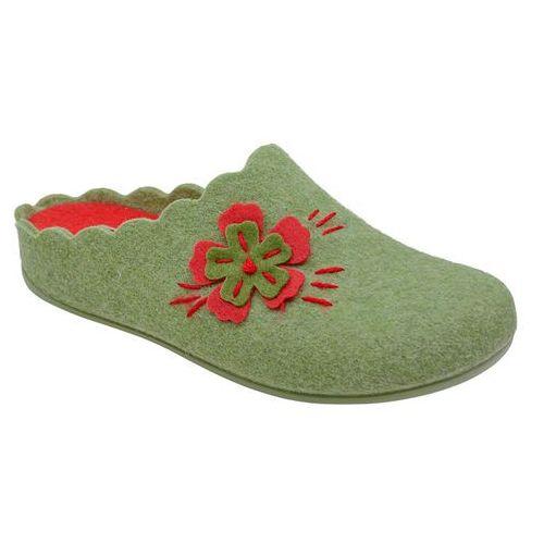 5b06f421 Kapcie MANITU 320524-7 Grun Zielone Pantofle domowe Ciapy zdrowotne -  Zielony ||Czerwony (4053519839704)