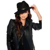 Klasyczny kapelusz damski LGK106 czarny