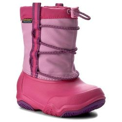 Śniegowce CROCS - Swiftwater Waterproof Boot K 204657 Party Pink/Candy Pink