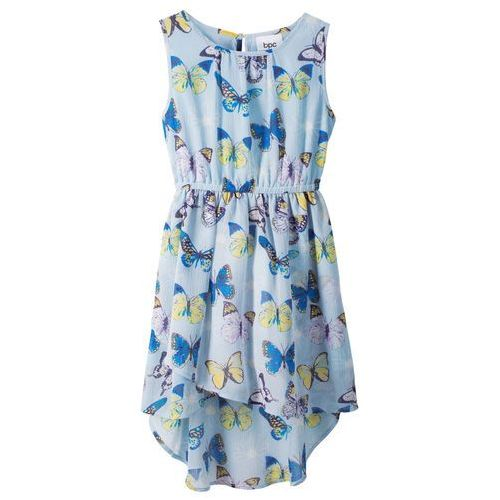 8e3d693830 Sukienka letnia pudrowy niebieski z nadrukiem (bonprix) - sklep ...