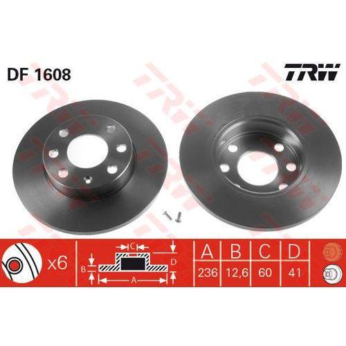 Trw Tarcza ham df1608 opel astra f 1.4i, 16i 98-02, combo 1.4 94-01