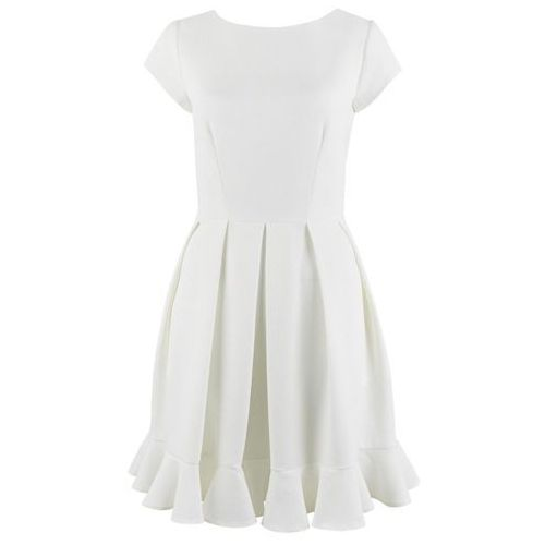 Closet London sukienka damska 38 kremowa, kolor beżowy