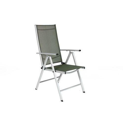 Edomator.pl Krzesło ogrodowe składane aluminiowe modena - srebrne - srebrny