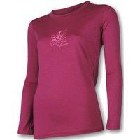 SENSOR Termoaktywna bluzka damska MERINO ACTIVE PT TEE LS - rozmiar L - kolor malinowy